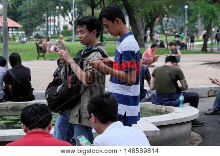 Portrait Of Asian Gamer, Pokemon Go