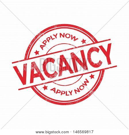 Job vacancy red rubber stamp isolated. vector illustration