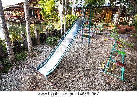 Slider in the kids park Thailand Child Fun