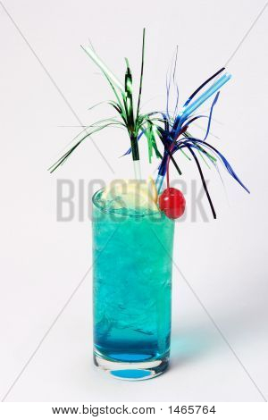 Big Blue-Green Cocktail