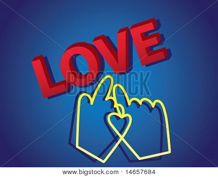 3D Love Text With Cursor