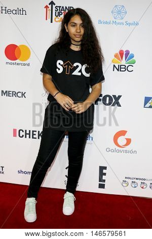 Alessia Cara at the 5th Biennial Stand Up To Cancer held at the Walt Disney Concert Hall in Los Angeles, USA on September 9, 2016.