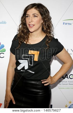 Mayim Bialik at the 5th Biennial Stand Up To Cancer held at the Walt Disney Concert Hall in Los Angeles, USA on September 9, 2016.