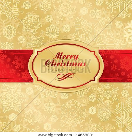 christmas label background (vector)