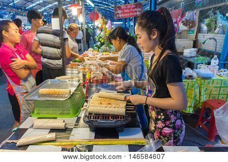 Thai Street Food, Grilled Vietnamese Pork Sausage