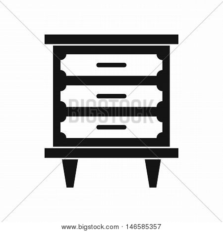 Nightstand in simple style isolated on white background vector illustration