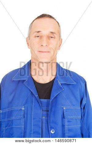 Smiling confident repairman