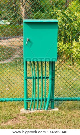 Electricity Distribution Box.