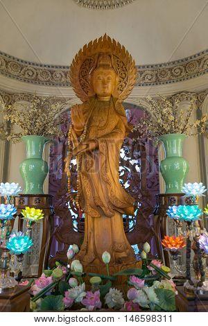 Guanyin Statue At Erawan Museum