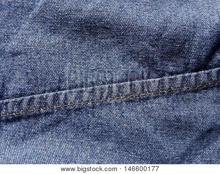 close up crease seam jeans texture background