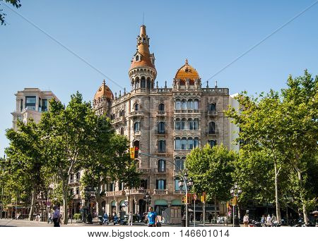 JUNE 15 2011 - BARCELONA SPAIN: Cases Antoni Rocamora building