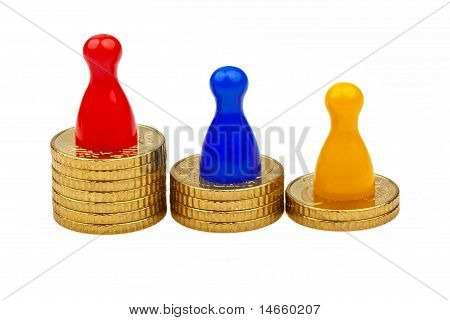Action figures on coins