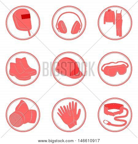 Safety infographics individual protective tools. Vecttor illustration