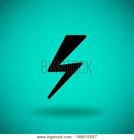Flat icon. Lightning.