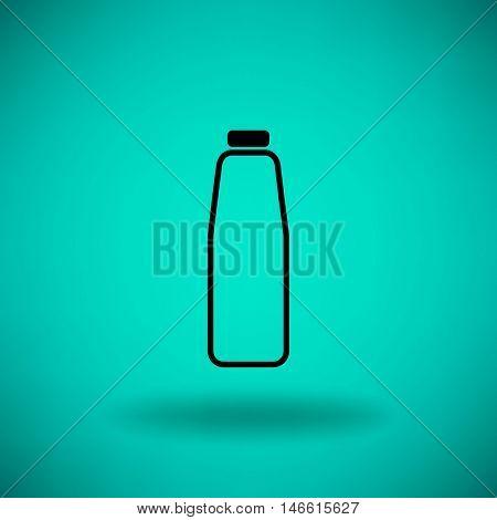 Flat icon. Bottle. Dairy.