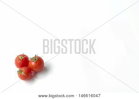 tomatoes on white background for healthy food collection organic vegetables
