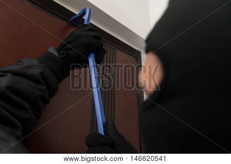 Burglar Opens A Door