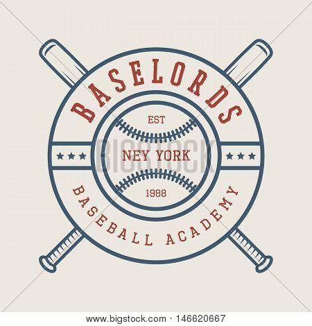 Vintage baseball logo emblem badge and design elements. Vector illustration