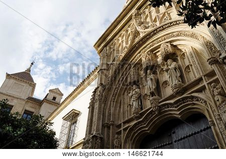 View of Alcazar and Cathedral  Mosque of Cordoba, Spain