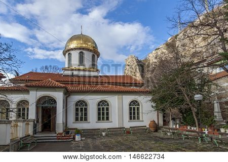 Courtyard of The Fish Church, St. Mary the Annunciation, Asenovgrad,  Plovdiv Region, Bulgaria
