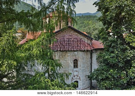 Main church in Medieval Bachkovo Monastery, Bulgaria