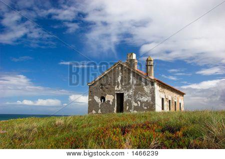 Abandoned House Close To The Sea