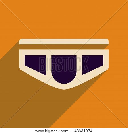 Flat icon with long shadow  men's underwear