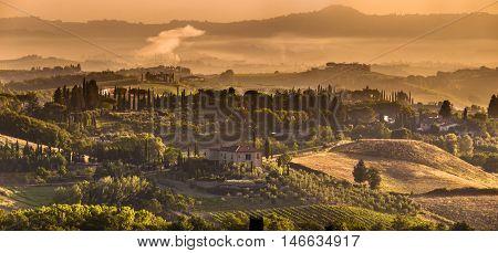 Tuscany Village Panorama