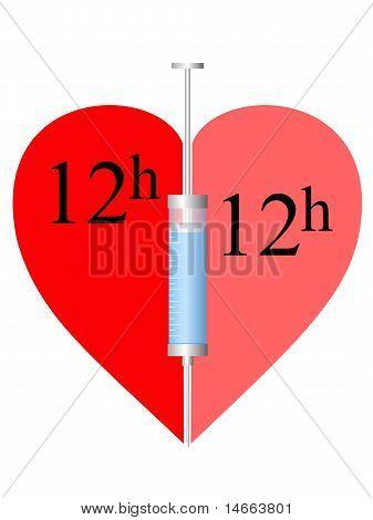 Herz, Spritze 12H