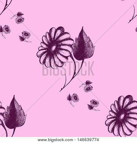 daisy flower a repeated decorative design pattern daisies vector illustration
