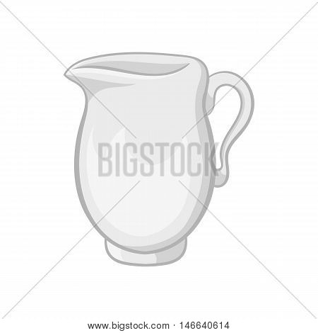 Glass jug icon in black monochrome style on a white background vector illustration