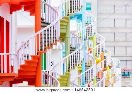 Singapore's spiral staircases.