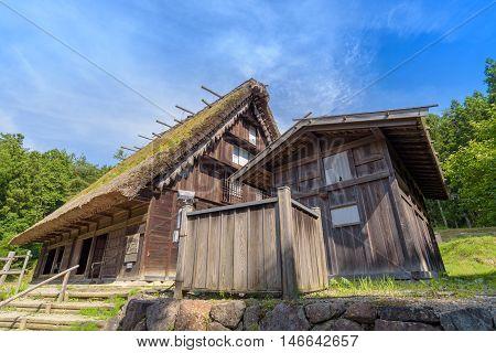 Old House In Hida Folk Village At Takayama, Japan