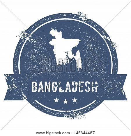 Bangladesh Mark. Travel Rubber Stamp With The Name And Map Of Bangladesh, Vector Illustration. Can B