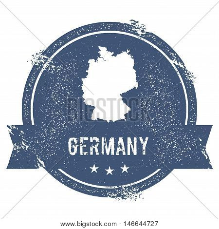Germany Mark. Travel Rubber Stamp With The Name And Map Of Germany, Vector Illustration. Can Be Used