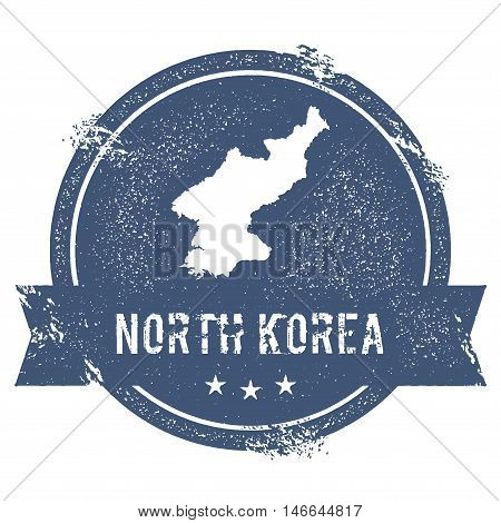 Korea, Democratic People's Republic Of Mark.. Travel Rubber Stamp With The Name And Map Of Korea, De