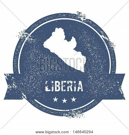 Liberia Mark. Travel Rubber Stamp With The Name And Map Of Liberia, Vector Illustration. Can Be Used