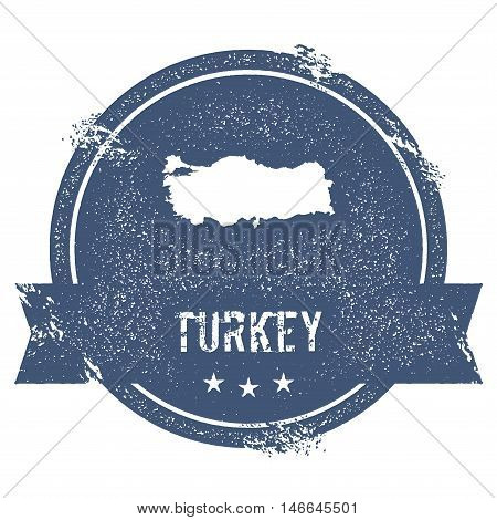 Turkey Mark. Travel Rubber Stamp With The Name And Map Of Turkey, Vector Illustration. Can Be Used A