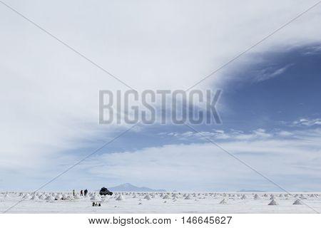 Salar de Uyuni (Salt Flat) in Bolivia