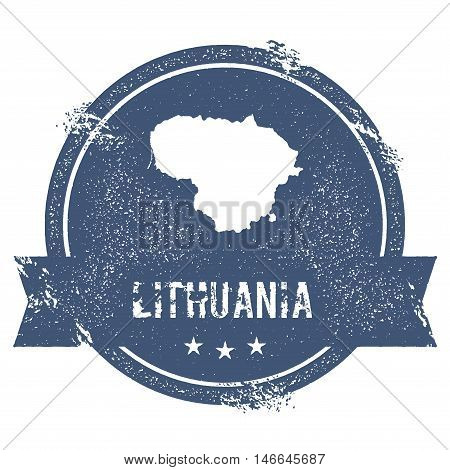Lithuania Mark. Travel Rubber Stamp With The Name And Map Of Lithuania, Vector Illustration. Can Be
