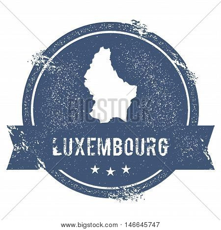 Luxembourg Mark. Travel Rubber Stamp With The Name And Map Of Luxembourg, Vector Illustration. Can B