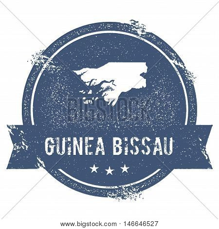 Guinea-bissau Mark. Travel Rubber Stamp With The Name And Map Of Guinea-bissau, Vector Illustration.