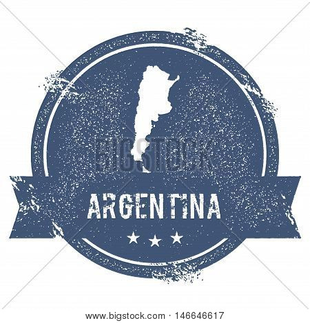 Argentina Mark. Travel Rubber Stamp With The Name And Map Of Argentina, Vector Illustration. Can Be