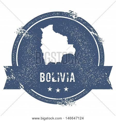 Bolivia Mark. Travel Rubber Stamp With The Name And Map Of Bolivia, Vector Illustration. Can Be Used