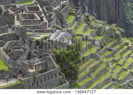 View Of The Ancient Inca City Of Machu Picchu. The 15-th Century Inca Site.'lost City Of The Incas'.