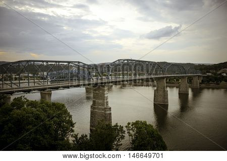 Bridge in Chattanooga, Tennessee in the Summer.