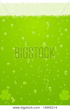 Vector Green Beer Texture For St. Patricks Day