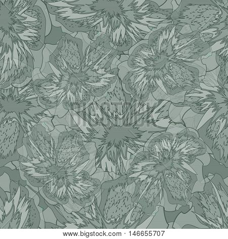 Seamless Floral Abstract Gray Ornamental Pattern Jpeg Format