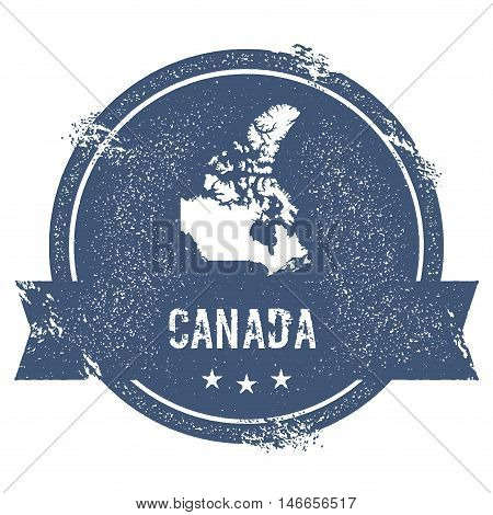 Canada Mark. Travel Rubber Stamp With The Name And Map Of Canada, Vector Illustration. Can Be Used A