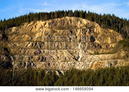 Strip Mining On A Hillside